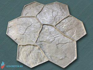 штамп (форма) рваный камень (С) для печатного бетона купить в Москве