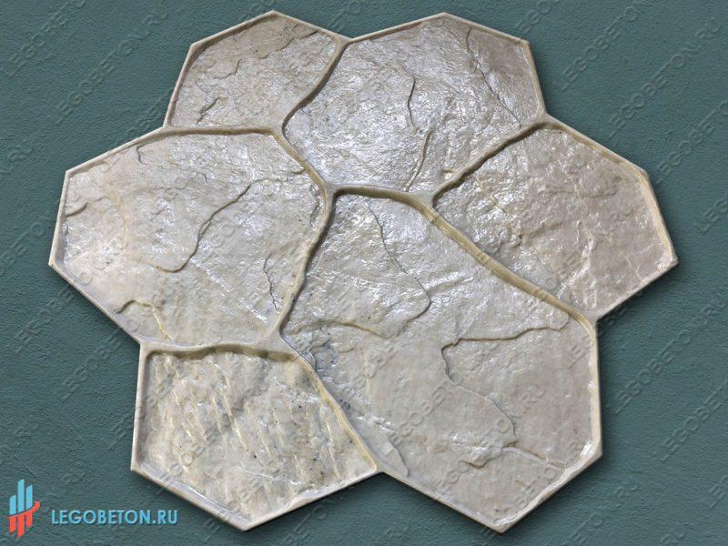 штамп рваный камень (С) для печатного бетона