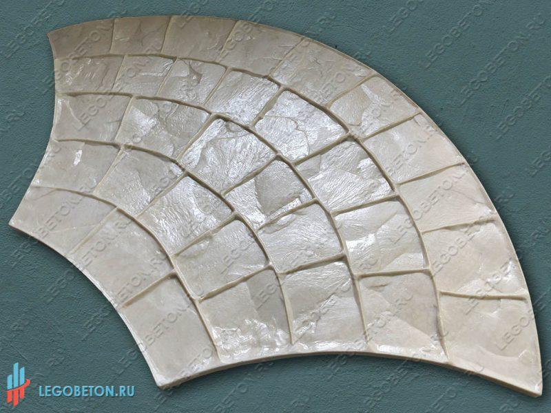 штамп для печатного бетона веер-3020-1