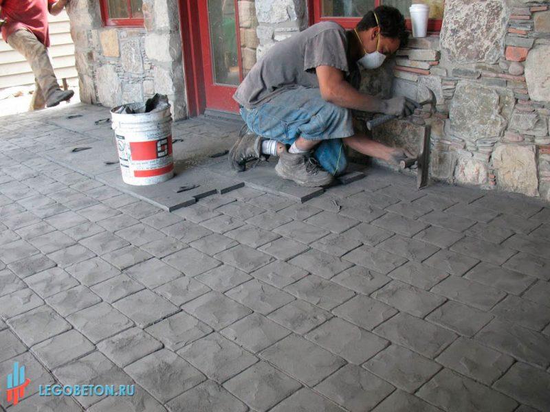 3030-штампованный бетон Лондон кабл-03