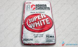 цемент белый ADANA CEM I 52,5R (М600) турция купить в москве