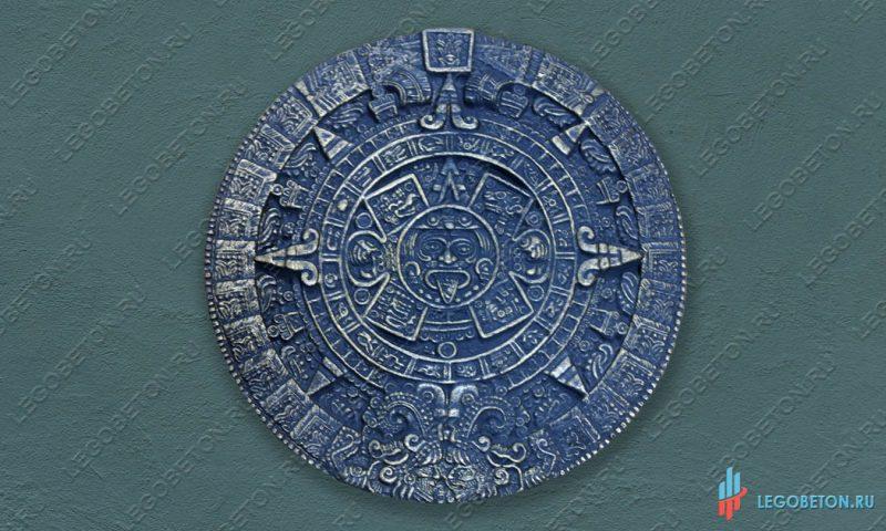 панно Календарь Майя черненная латунь из бетона
