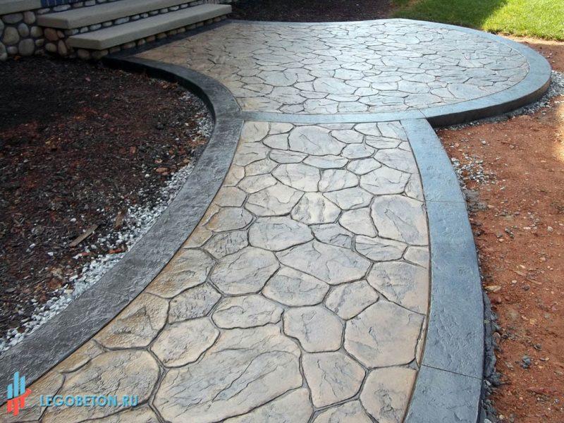 штампованный бетон — штамп рваный камень-1