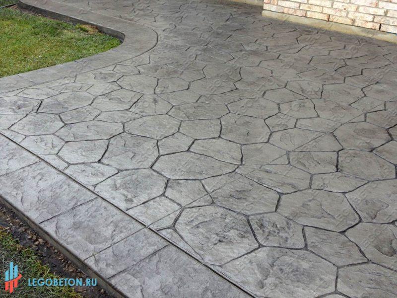 штампованный бетон — штамп рваный камень-вариант укладки-2