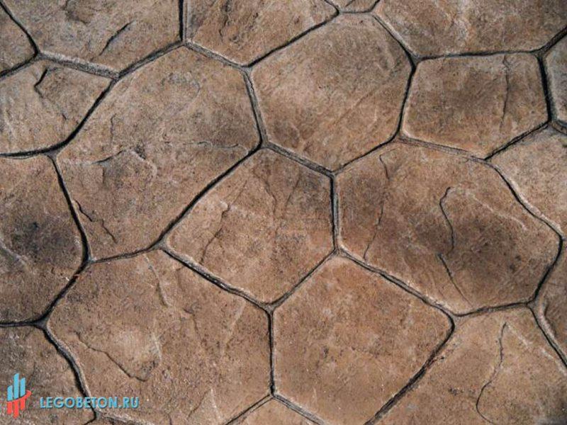 штампованный бетон — штамп рваный камень-вариант укладки-4