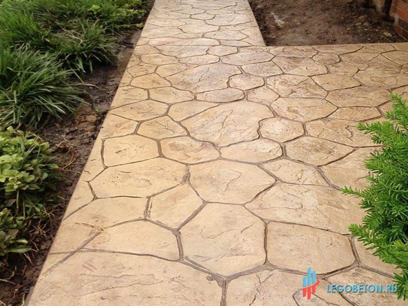 штампованный бетон — штамп рваный камень-вариант укладки-6