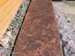 печатный бетон - штамп рваный камень-вариант укладки-7