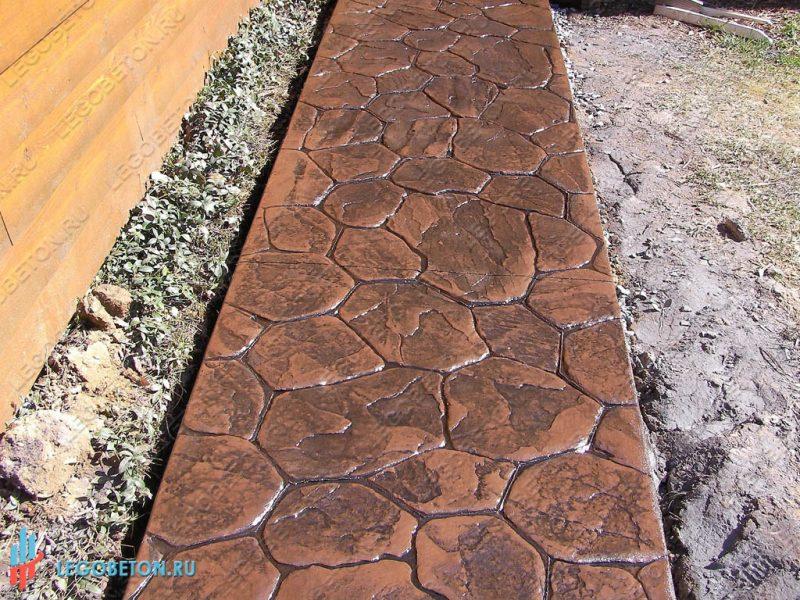 печатный бетон — штамп рваный камень-вариант укладки-7