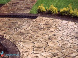 штампованный бетон - штамп рваный камень-вариант укладки-8