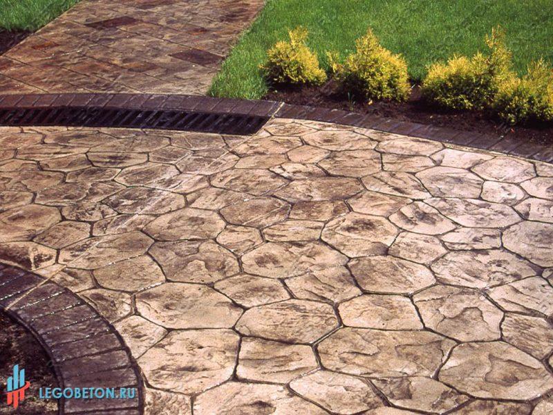 штампованный бетон — штамп рваный камень-вариант укладки-8