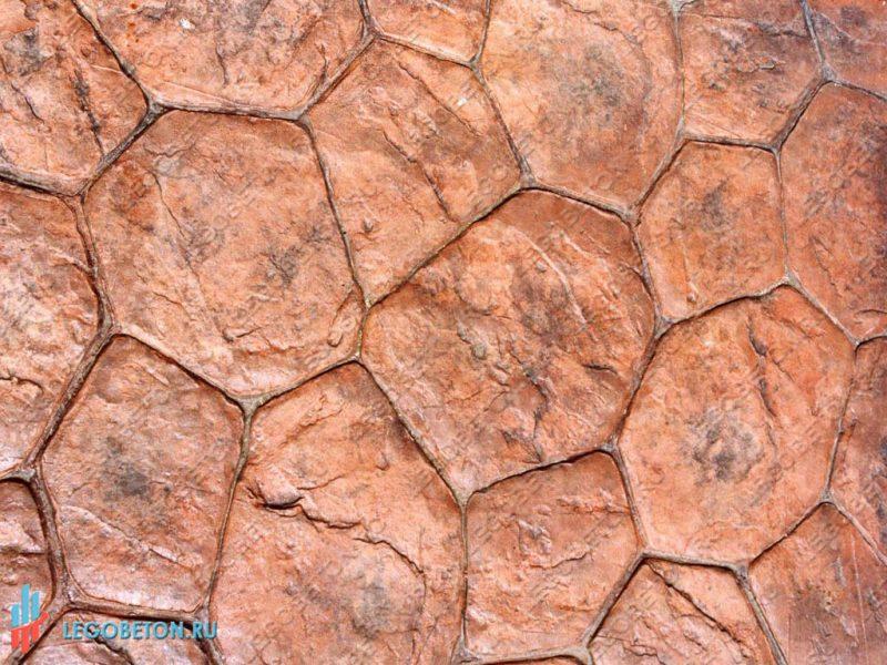 печатный бетон — штамп рваный камень-вариант укладки-9