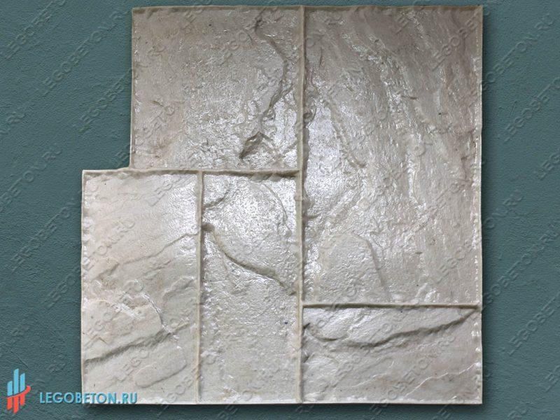 штамп для печатного бетона тесаный камень-01