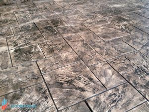 Штампованный бетон тесаный камень-03