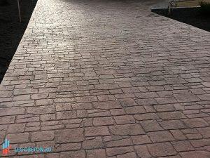 Штампованный бетон песчаник-02