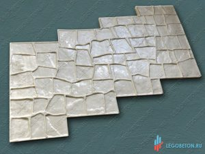 форма для печатного бетона гранит-1 купить в Москве