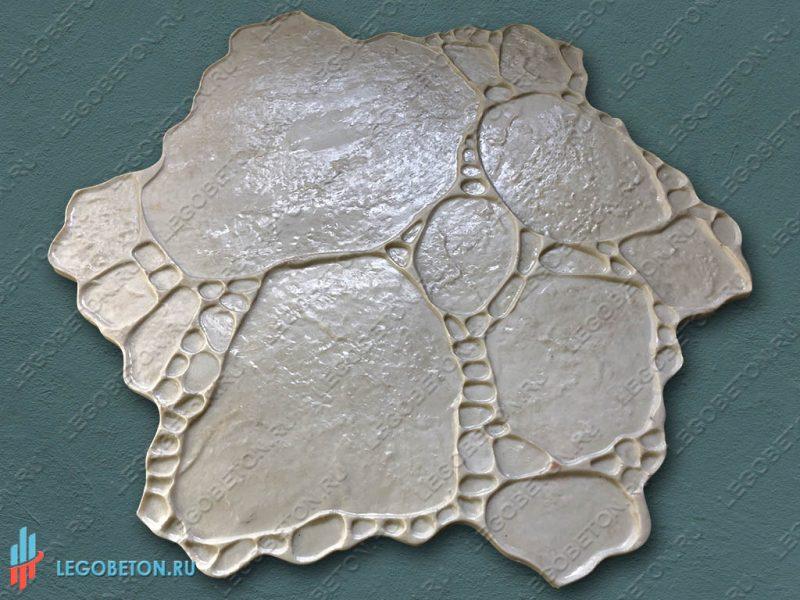 форма для штампованного бетона садовый камень-1