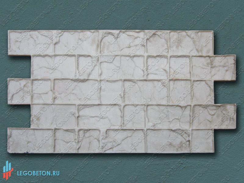 штамп для печатного бетона замковая брусчатка-1