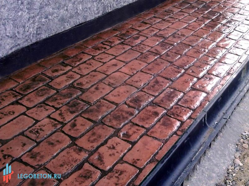 Штампованный бетон замковая брусчатка-4