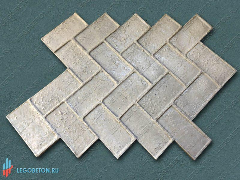 штамп для печатного бетона Клинкерная плитка-1