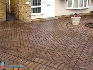 Штампованный бетон Клинкерная плитка-3