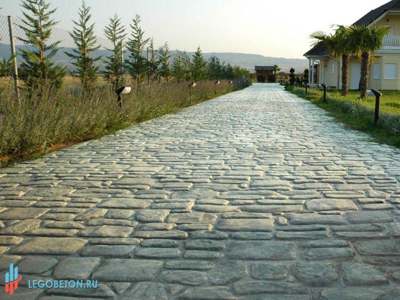 Штампованный бетон английский камень-1