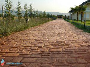 Штампованный бетон английский камень-2