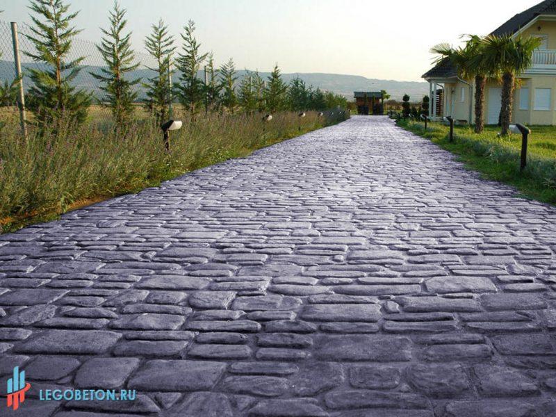 Печатный бетон английский камень-3