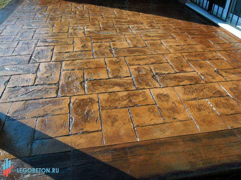 Печатный бетон Леон-02