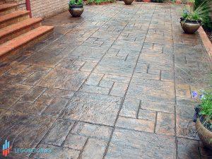 Печатный бетон Квадрат калифорния (леон)-04