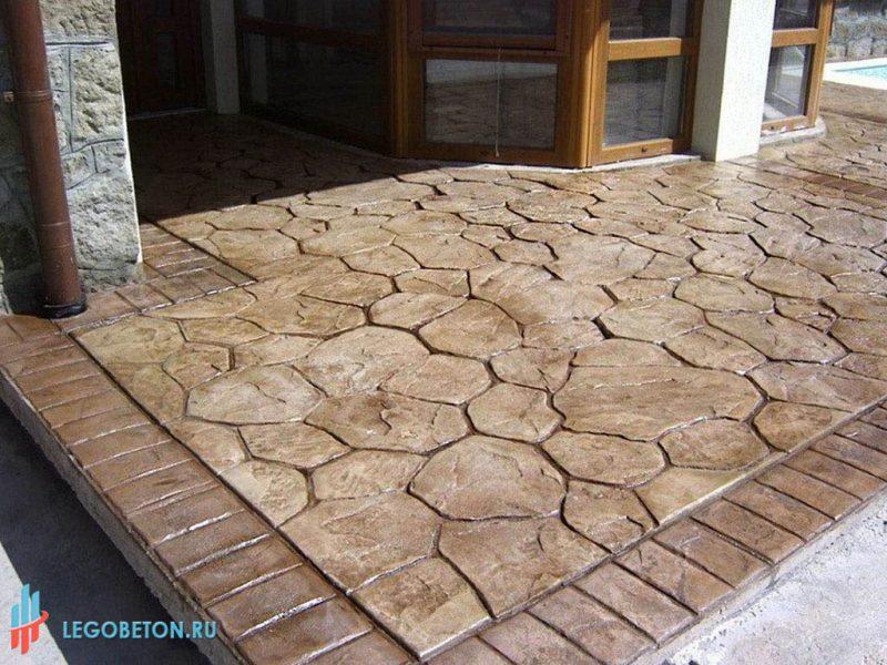 Печатный бетон бордюр кирпич-04