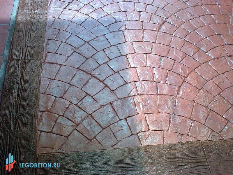 Штампованный бетон бордюр доска-03