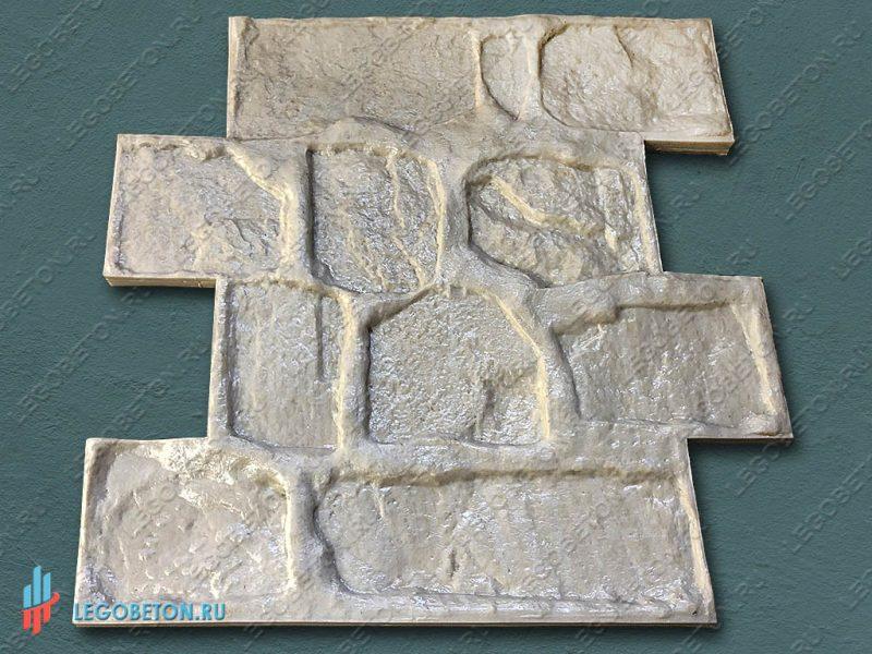 штамп для печатного бетона  стеновой камень-01