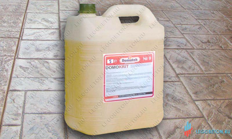 Разделитель для печатного бетона Domokrit (жидкий, бесцветный)