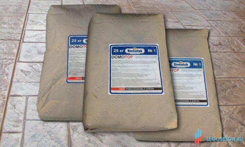 Закрепитель (топпинг) для штампованного бетона DomoTop (мешок 25 кг)