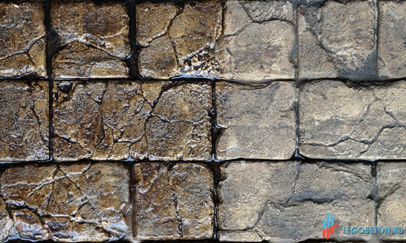 печатный бетон с эффектом мокрого камня-1