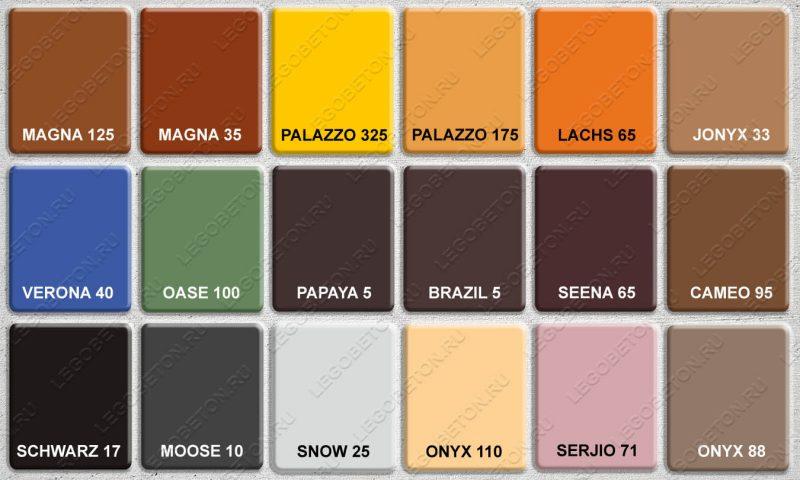 цветной закрепитель для штампованного бетона DomoTek-1