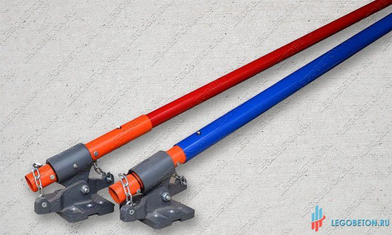 Ручка-удлинитель гладилки облегченная и стандартная для ручной затирки бетона