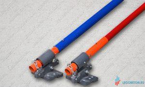 стандартная ручка для затирки печатного бетона в комплекте с адаптером и клипсами. Купить в Москве
