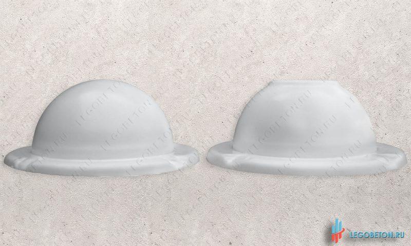 форма для для изготовления из бетона шара на крышку столба материал-УПП(3 мм)