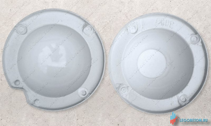 пластиковая форма для шара навершия на крышку столба-УПП(премиум)