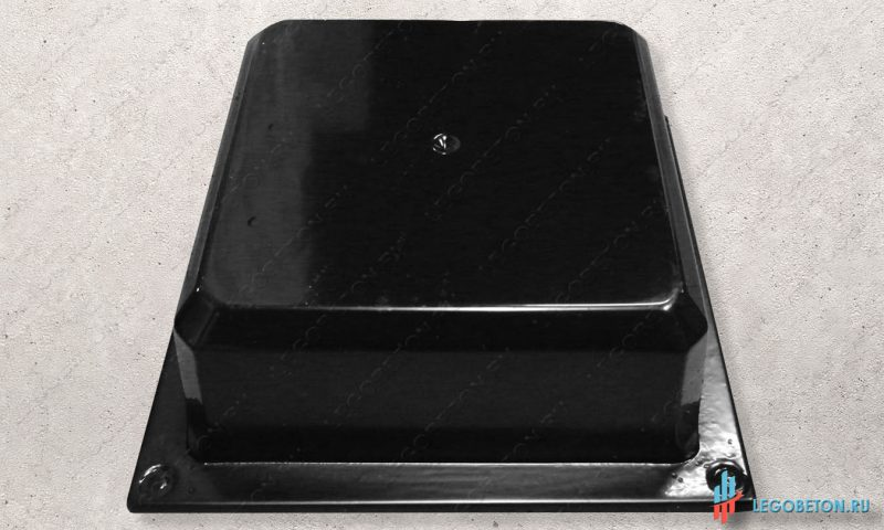 форма для изготовления из бетона основания столба балюстрады материал-АБС(премиум)