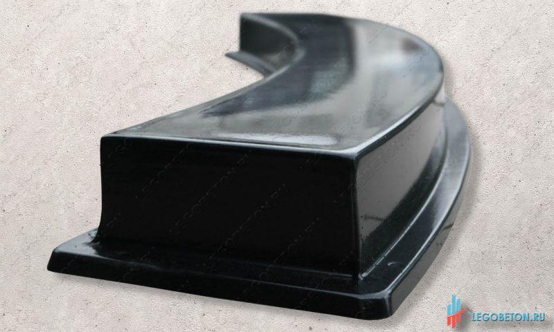 пластиковая форма тетивы балюстрады радиусная материал-АБС(2мм)