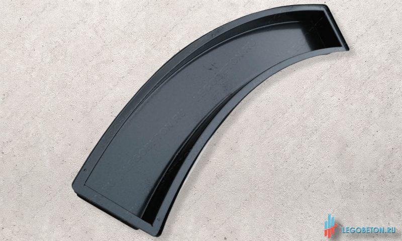 форма для отливки из бетона тетивы балясин балюстрады радиусная-АБС(2 мм)