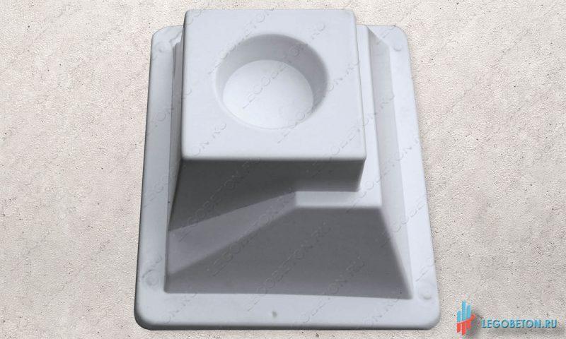 форма для отливки из бетона универсального стакана балясин-УПП(премиум)
