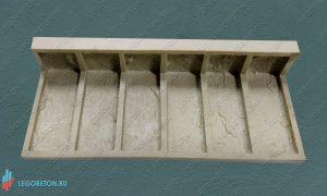 форма для декоративной плитки литого угла Петр-I(1) купить в Москве