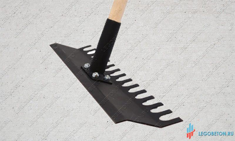 Ручной бетоноукладчик грабли для печатного бетона