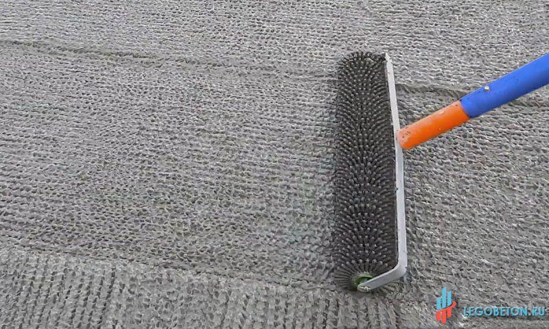 Игольчатый валик 600 мм для осадки щебня при укладке бетона