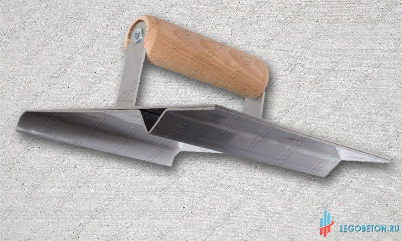 Ручной нарезчик декоративных швов с кромкогибом для штампованного бетона