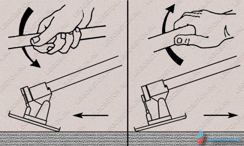 реверсивная гладилка для бетона с поворотным узлом-1