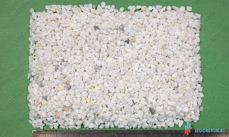 мраморная крошка белая 3-5 мм-1